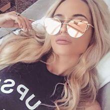 CandisGy Gato olho Mulheres Óculos De Sol 2016 Novo Design Da Marca Espelho  Plano de Ouro 22a80772e3