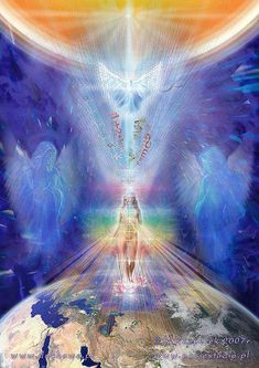 Ascension - The Merkaba is a vehicle that can aid mind, body and spirit to access and experience other planes of reality or potentials of life. It also aids your spiritual growth xxx Chakras, Art Visionnaire, Ascended Masters, Spiritus, Visionary Art, Spiritual Awakening, Love And Light, Sacred Geometry, Wicca