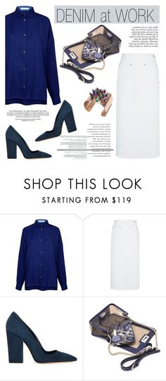 """""""Denim at work"""" by ifchic ❤ liked on Polyvore featuring мода, Atea Oceanie, Thakoon, Dee Keller, Mohzy, Anja и Joomi Lim"""