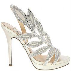 Fauna by Nina http://www.bellissimabridalshoes.com/wedding-heels/high-heel-wedding-shoes/Fauna-by-Nina $194.99