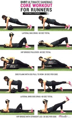 Core Workout for Runners using DVRT {Functional Fitness, Functional Training, Sandbag, Fitness, Strength Training} Home Strength Training, Strength Training For Beginners, Strength Training For Runners, Cardio Training, Strength Workout, Running Workouts, Running Tips, Core Workouts, Kettlebell Training
