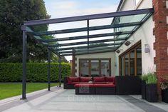 Elegant Glass Verandas provide a protective patio roof connecting your home and garden, a quality aluminium veranda for outdoor living under glass. Backyard Canopy, Garden Canopy, Pergola Canopy, Canopy Outdoor, Outdoor Pergola, Canopy Tent, Pergola Shade, Diy Pergola, Pergola Ideas