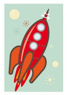 Retro Rocketship