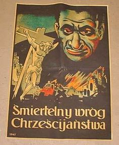 Antisemitismus in Polen Ww2 Posters, Polish Posters, Nazi Propaganda, Anti Semitic, Crime, Illustrations And Posters, Political Cartoons, Japan, Vintage Posters