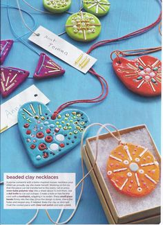 beaded clay necklaces- your own personal diffuser!