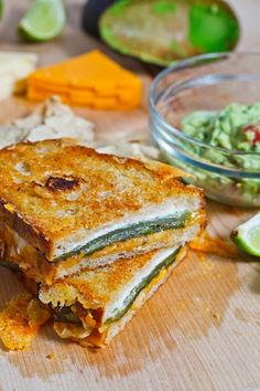 Jalapeno Popper Grilled Cheese Sandwich -  Well this was a winner. Didn't feel too healthy after. I used fresh jalapenos, toasted them a bit after slicing them. I toasted two halves of bread then put a little sour cream between before closing up. I used the toaster oven to toast. Would do again for sure.