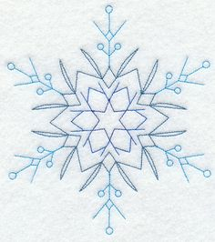 Star Snowflake (Redwork) Repinned by RainyDayEmbrdry www.etsy.com/shop/RainyDayEmbroidery