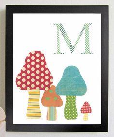 Look what I found on #zulily! Mushrooms Alphabet Print by Just Bunch Designs #zulilyfinds