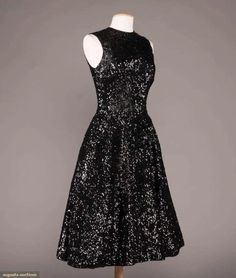 (1) For Auction: TWO BLACK MAINBOCHER EVENING DRESSES, AMERICA, (#0019) on Sep 09, 2020   Augusta Auctions in VT