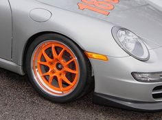 Our friends at Autometrics Motorsports started with a clean street car and turned it into this no-compromises racecar, optimized to the current Porsche Club of America rules for an H-class 997, including race-legal custom cage, full race trim, and 18-inch Forgeline GA3R wheels finished with Carrera Orange centers and Polished outers. See more at: http://www.forgeline.com/customer_gallery_view.php?cvk=1353  #Forgeline #GA3R #notjustanotherprettywheel #madeinUSA #Porsche #Carrera
