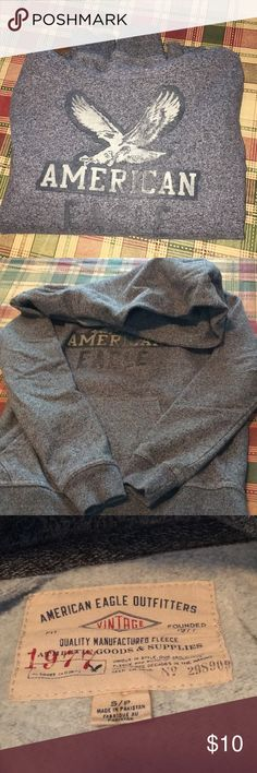 A&E hooded sweatshirt Very soft and comfy. Armpit to armpit is 19 1/2 inches. Length from shoulder is 24 inches. American Eagle Outfitters Tops Sweatshirts & Hoodies