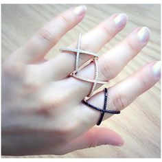 Sterling Silver X ring crisscross ring in Rose by laplumeblanche (42 CAD) via Polyvore