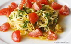 Rohkost Zucchini Nudeln