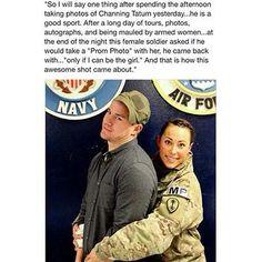 Chaning Tatum. Prom photo.