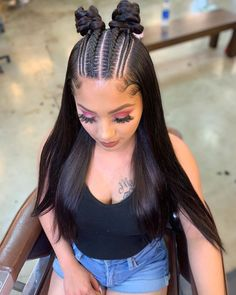 56 Dope Box Braids Hairstyles to Try - Hairstyles Trends Braided Ponytail Hairstyles, Baddie Hairstyles, Box Braids Hairstyles, Quick Hairstyles, Hairstyles 2018, African Hairstyles, Braided Updo, Curly Hair Styles, Long Hairstyles