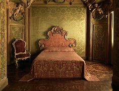 Stuccowork probably by Abbondio Stazio of Massagno (Italian, 1675–1745). Bedroom from the Sagredo Palace, ca. 1718. The Metropolitan Museum of Art, New York. Rogers Fund, 1906 (06.1335.1a–d) | In design and workmanship, this bedroom, consisting of an antechamber with a bed alcove, is one of the finest of its period.
