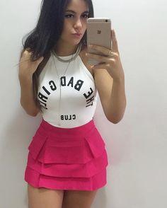Short-saia ( atras também é saia) + body ❤️