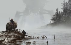 1920 - lost in the fog, Jakub Rozalski on ArtStation at…