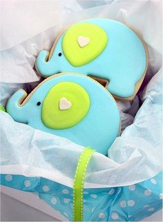 elephant cookies decorated Repinned By:#TheCookieCutterCompany