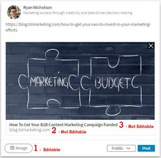 Updated for The comprehensive guide to sharing on LinkedIn. This article provides instruction, screenshots, and tips on LinkedIn sharing best practices. Decision Making, Content Marketing, Campaign, Public, Success, How To Get, Neon Signs, Amazing, Inbound Marketing
