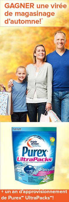 Gagnez 750 $ et un an de Purex. Fin le 8 novembre.  http://rienquedugratuit.ca/concours/gagnez-750-et-un-an-de-purex/