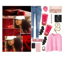 """""""   """" she gon smile cause she on fleeek  """" by naughtybynatur-e ❤ liked on Polyvore featuring art"""