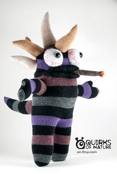 Lothar the Sock Monster by QuirksOfNature on Etsy