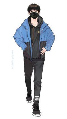 Cool Anime Guys, Boy Drawing, Boy Photography Poses, Character Art, Character Concept, Handsome Anime, Korean Art, Human Art, Manga Boy