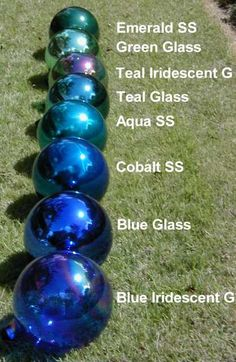 Hand Blown Gazing Globes.  Another name for crystal ball?