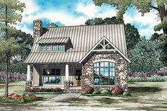 House Plan 17-2481. This would be too big for me, but it sure is cute.