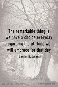Charles Swindoll on choosing your attitude.