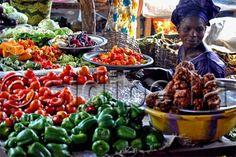 Marketplace in Lafyabugu, Bamako, Mali