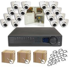 COMPLETE 16 CHANNEL ULTIMATE DVR SECURITY CAMERA SURVEILLANCE SYSTEM WITH BULK CABLE by SecurityCameraKing.com. $2414.65. Our Ultimate Series DVR features embedded Linux OS, remote monitoring from anywhere in the world, audio recording on all channels,H.264 compression, VGA, BNC and HDMI video outputs. This is NOT a PC based DVR which is subject to viruses and hacking. This is a standalone unit built for only one purpose. This DVR features professional grade components and is ...