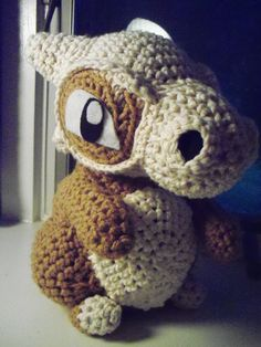 Cubone Amigurumi Crochet Pokemon Doll by BrendaMakesThings on Etsy, $40.00