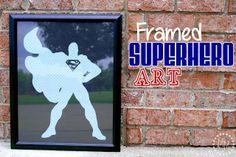 Easy and awesome DIY Framed Superhero Art
