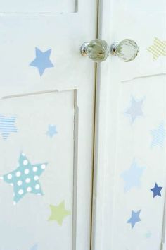 Wish Upon a Star - Blue Nursery Wall Decals