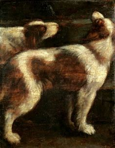 Two Dogs - unknown, Spanish 17C