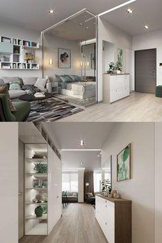 home interior design trends 2020 - Home Decorations Ideas Studio Apartment Design, Small Apartment Interior, Small Apartment Design, Condo Design, Studio Apartment Decorating, Small Apartments, House Design, Condo Interior, Studio Design
