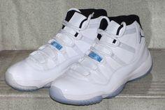 """Air Jordan XI (11) Retro """"Columbia"""" (Legend Blue) Retro 11 Legend Blue, Air Jordan 11 Columbia, Discount Jordans, Authentic Jordans, Retro Shoes, Retro Sneakers, Blue Sneakers, Air Jordan Shoes, Air Jordan Xi"""