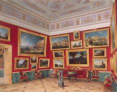 Luigi Premazzi  Interiors of the New Hermitage. The Room of Italian Art