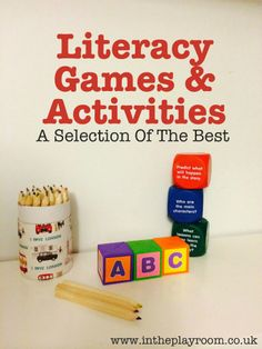 A selection of the best Literacy games and activities, to help familiarise children with letters and support early reading and writing skills