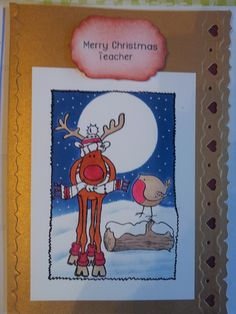 A Christmas Card with Hobby Art Stamps