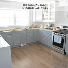 Our experience installing IKEA kitchen cabinetry during our kitchen renovation. A tuxedo kitchen with gray lowers and white uppers (Lindigo cabinets).