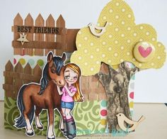 Melissa Oeters using BARC Cherry from ARC Crafts and Horsing Around Mae from Some Odd Girl.