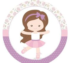 Tag ou toopers para docinhos ou cupcakes Bailarina Lilás