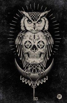 RUMA♥ZIHOZAYO Blk Owl on Behance