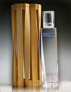 wyborowa vodka single estate bottle designed by Frank Gehry