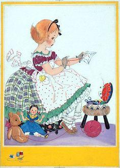 *E Dorothy Rees Illustrations* http://www.pinterest.com/miae0507/%EB%B0%94%EB%8A%90%EC%A7%88%ED%95%98%EB%8A%94-%EC%97%AC%EC%9D%B8/