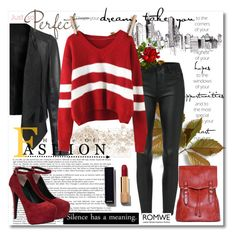"""""""Romwe.com Contest - Win Wine Red Sweater!!!"""" by meldin ❤ liked on Polyvore featuring Chanel, women's clothing, women's fashion, women, female, woman, misses and juniors"""