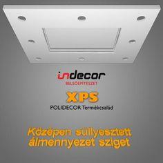 XPS Polidecor TÉGLALAP álmennyezet süllyesztett LED szalagnak és spot világításnak 120X150